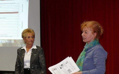 Lengyelné dr. Tóth Éva és dr. Kántorné Sárközi Katalin (Kőrizs J. fotója)